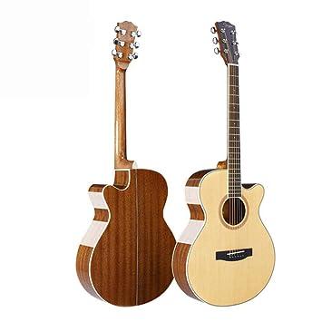 Hjyi Guitarra acústica, Guitarra acústica de Palo de Rosa de Pino ...