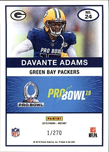 2512cd12 Amazon.com: 2018 Panini Instant NFL Pro Bowl 1989 Score Design Football #24  Davante Adams Green Bay Packers Official NFL Football Trading Card ONLINE  ...