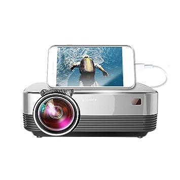 C-K-P Proyector, Home HD Smart Wireless WiFi Pequeño proyector ...