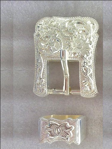hilason-4-pc-buckle-horse-saddle-western-headstall-bridle-silver-tack-floral-3-4-inch