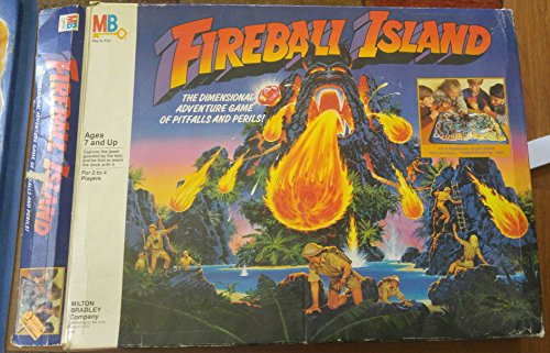 Milton Bradley - FIREBALL ISLAND - adventure game (Rare)