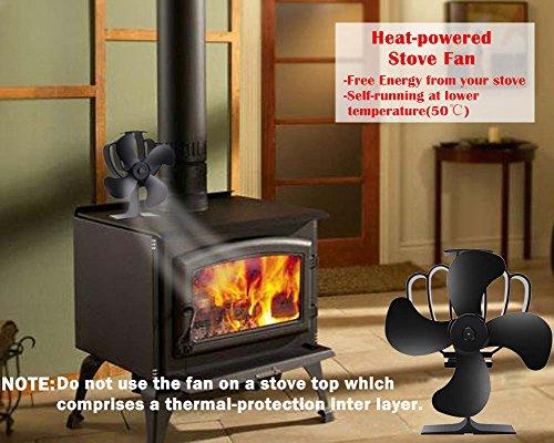 Ventilador de estufa Aobosi para chimenea: Amazon.es: Bricolaje y herramientas