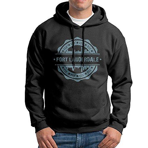 X-JUSEN Men's Fort Lauderdale Florida Hoodies Hooded Sweatshirt