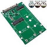 SHINESTAR M.2 mSATA SSD to SATA Adapter, 2-in-1 NGFF or mSATA SSD Reader Converter Card, Support Mini SATA SSD or M.2 SATA Based B Key SSD 2230 2242 2260 2280