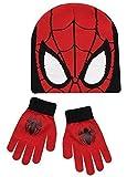 Boys Kids Spiderman Winter Hat And Gloves Set
