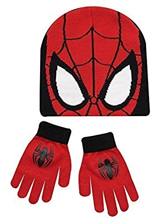 Boys Kids Spiderman Winter Hat And Gloves Set  Amazon.co.uk  Clothing f03c31312be7