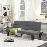 Belleze Multifunctional Futon Convertible Bed Upholstered Microfiber - Gray