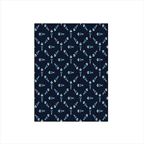 - Decorative Privacy Window Film/Fractal Fish Pattern Polygonal Style Ocean Swim Sea World Graphic Decorative/No-Glue Self Static Cling for Home Bedroom Bathroom Kitchen Office Decor Indigo Dark and Sky