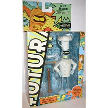Futurama Toynami Series 8 Action Figure Chef Bender Includes Exclusive Roberto BuildABot Part