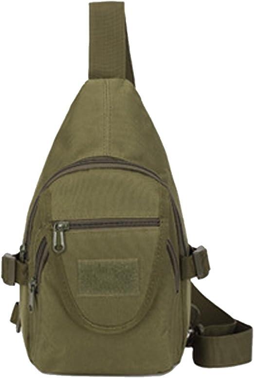 Sumferkyh Bolso de la Honda Sling Pack Bag Al Aire Libre Bag Assault Pack Gear Backpack Chest Bag para Hombres Mujeres Ciclismo al Aire Libre Sender (Color : Verde): Amazon.es: Hogar