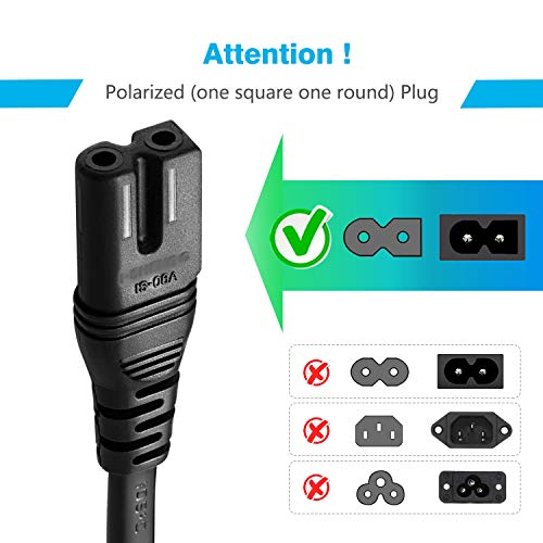 Buy tv power cord 10 ft