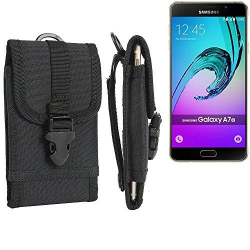 bolsa del cinturón / funda para Samsung Galaxy A7 (2016) Duos, negro | caja del teléfono cubierta protectora bolso - K-S-Trade (TM)