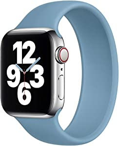 Strawberry Apple Pie - Solo Loop Band Compatible with Apple Watch Bands Replacement Sport Strap Silicone Wristband Men Women for Iwatch Series 6/SE/5/4/3/2/1 40mm 38mm Northern Blue 42mm 44mm Size 6