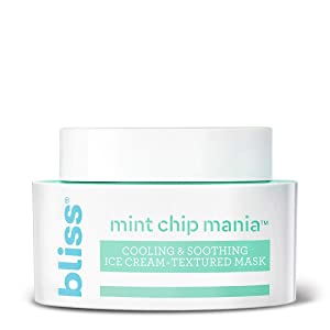 Bliss Mint Chip Mania Soothing Facial Mask for Hydrating, Nourishing & Replenishing Skin, Vegan Formula Face Mask Made with Aloe Vera, Shea Butter & Peppermint Leaf Extract, 1.7 oz
