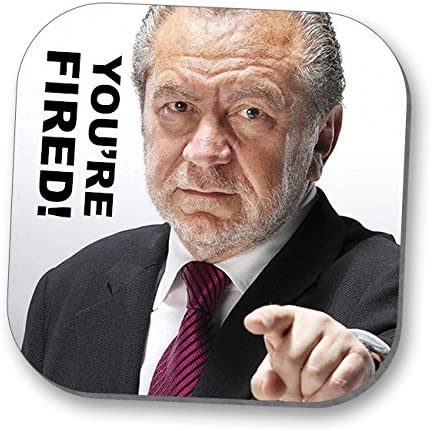 The Apprentice You Re Fired Humourous Drink Mat Stocking Filler Amazon Co Uk Kitchen Home