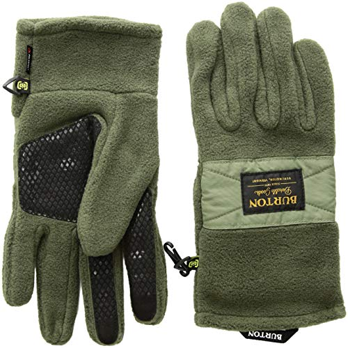 Fleece Glove Mitt - Burton Men's Ember Fleece Glove, Gray Heather, Medium