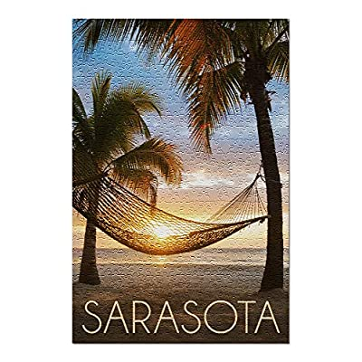Sarasota, Florida - Hammock and Sunset (Premium 500 Piece Jigsaw Puzzle for Adults, 13x19, Made in USA!): Toys & Games