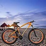 JXH-26-17-Pollici-Fat-Bike-Fuoristrada-Spiaggia-Neve-Bike-27-velocit-velocit-Mountain-Bike-40-Pneumatico-Largo-Adulti-Esterna-Che-GuidaBianca