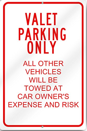 Valet Parking Only Sign 12'' wide x 18'' tall Heavy Gauge Aluminum Reflective by SignsToYou.com