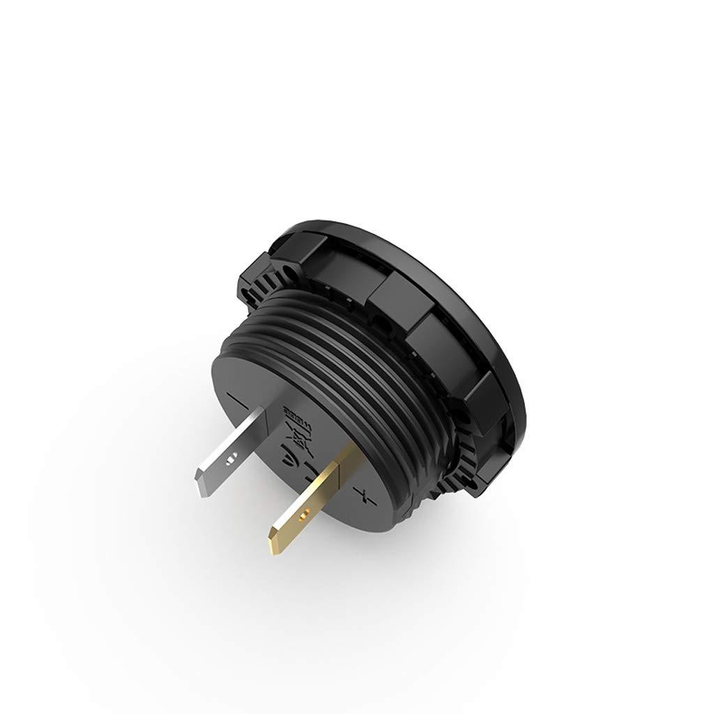 siwetg DC 5V-48V Panneau LED Testeur de Tension num/érique /Écran de capacit/é de Batterie Voltm/ètre avec Interrupteur Tactile on Off Rouge