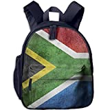 South Africa Flag Vintage Double Zipper Waterproof Children Schoolbag With Front Pockets For Teens Boys Girls