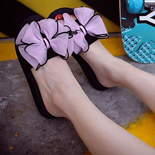 De Pantoufles Été Des Plat Vacances Rose Mode La Toe Sandales Dames Pour Peep Plage Femmes Clode® Soulier Filles Fête Les Chaussures qnxwB46A65