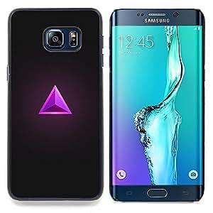 Stuss Case / Funda Carcasa protectora - Triángulo Rubí Gris púrpura de la joya de Bling - Samsung Galaxy S6 Edge Plus / S6 Edge+ G928