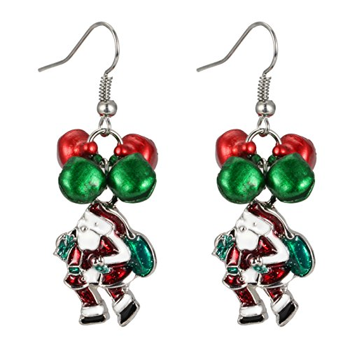 Christmas Earrings Jewelry Gift - Jingle Bell Christmas Santa Claus Dangle Earring for Women Girls Kids Hypoallergenic Drop Earrings Cute Fun Festive Holiday Costume Earrings Gift Packaged (Mixed Couple Halloween Costume Ideas)