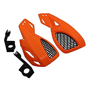 Red RONSHIN 2 PCS Motorcycle Dirt Bike Scooter Handle Bar Hand Guards Hand Protector