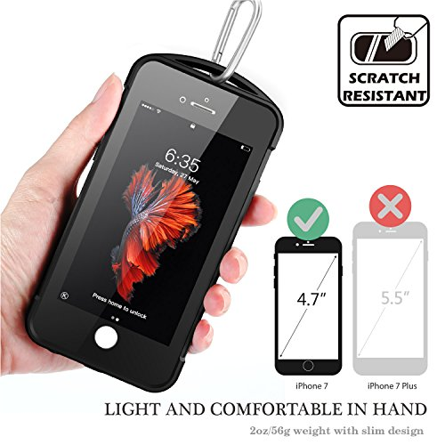 iPhone 7/8 Waterproof Case, Temdan SUPREME Series Waterproof Case with Carabiner Built in Screen Protector Outdoor Rugged Shockproof Clear Case for iPhone 7 and iPhone 8 (4.7 inch) by Temdan (Image #4)