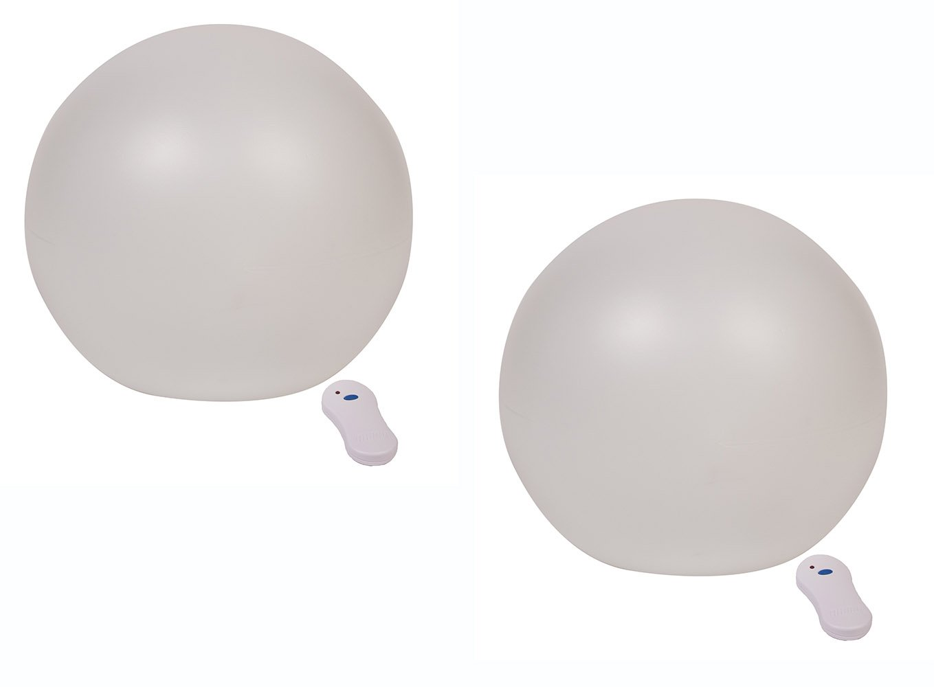 GalaxyGLO 9 inch Solar Powered Color Changing Globe for Pool or Patio - 2 pack