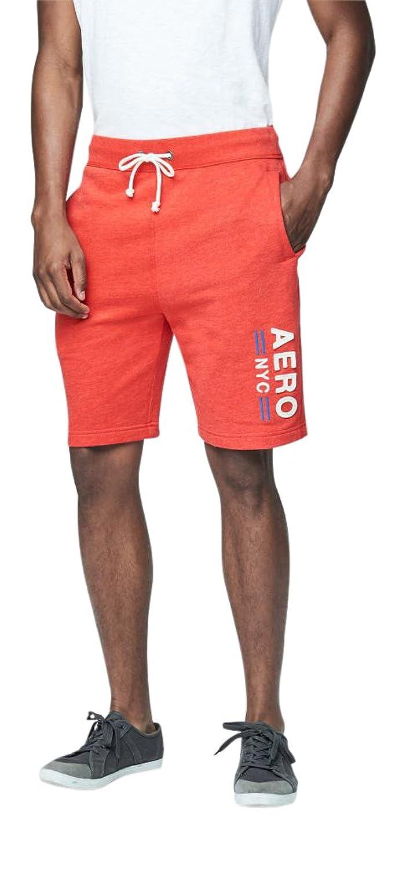 Aeropostale Men's Vertical Aero Nyc Knit Jogger Shorts