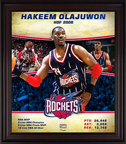 Hakeem Olajuwon Houston Rockets Framed 15