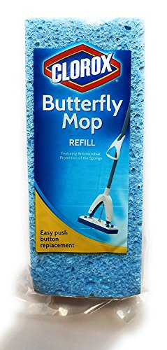 Clorox Butterfly Mop Refill, 1 Antimicrobial Refill (Pack of 2)