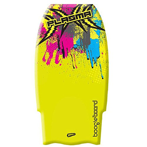 "Boogieboard Plasma 36"" Bodyboard with Leash (Yellow)"