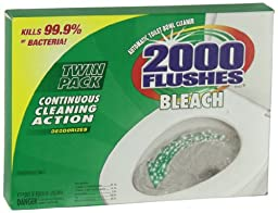 2000 Flushes 290081 Chlorine Antibacterial Automatic Toilet Bowl Cleaner 1.2 OZ Twin-Pack (Pack of 1)