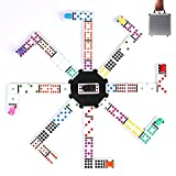 Double 12 Dominoes Games Set with Mexican Trains-Set of 91 Dot Melamine Dominoes
