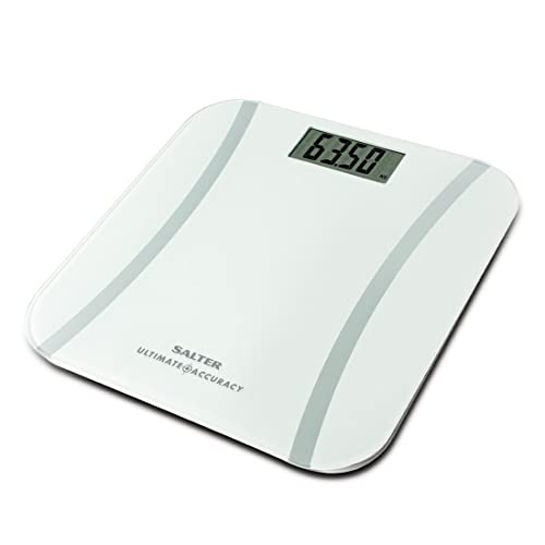 Salter Ultimate Accuracy Electronic Digital Bathroom Scales, Measurement 50 g Increments, White