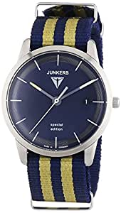 Junkers Watches 6C38-4 - Reloj de pulsera hombre, tela, color multicolor