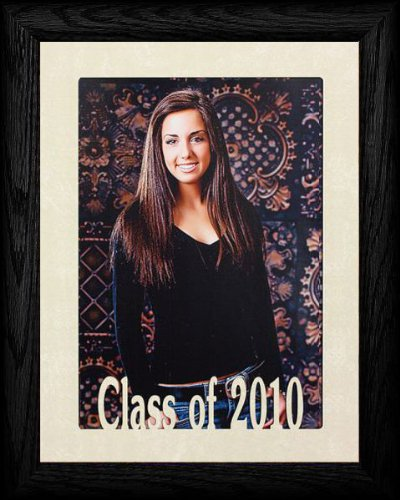 5x7 JUMBO ~ CLASS OF 2010 Portrait Picture Frame ~ Laser Cream Marble Matboard with Hardwood Frame - Gifts Graduation 2010