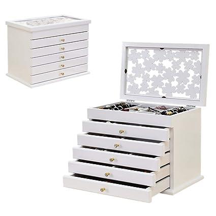 14dc4562b Joyero Chunlan Caja de almacenaje de los Pendientes de la joyería del  Almacenamiento de la Caja