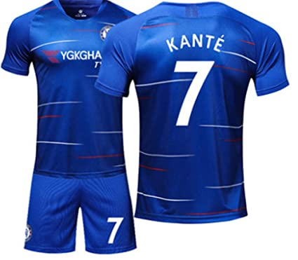 official photos f20ae d3833 Amazon.com: LISIMKE Soccer Team Home 2018/19 Chelsea Kante ...