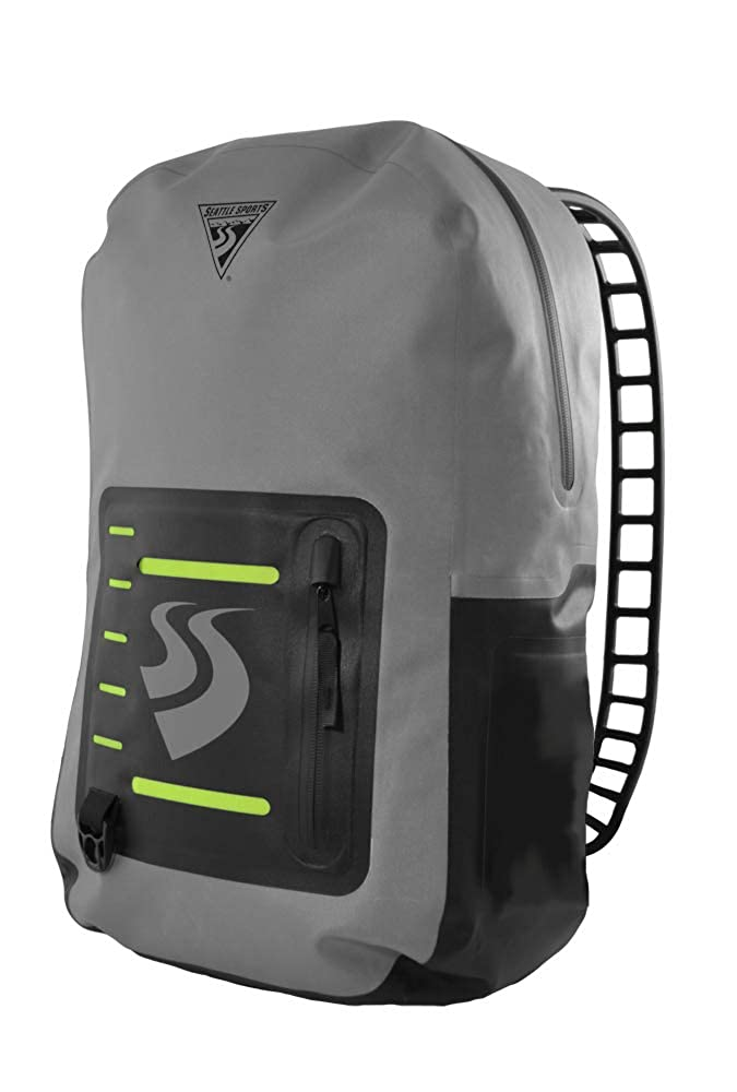 Image of Dry Bags Seattle Sports LocoDry Splash PacknModPok - Lightweight 20L Waterproof Dry Bag Backpack with Breathable Silicone Shoulder Straps, Gray/Black