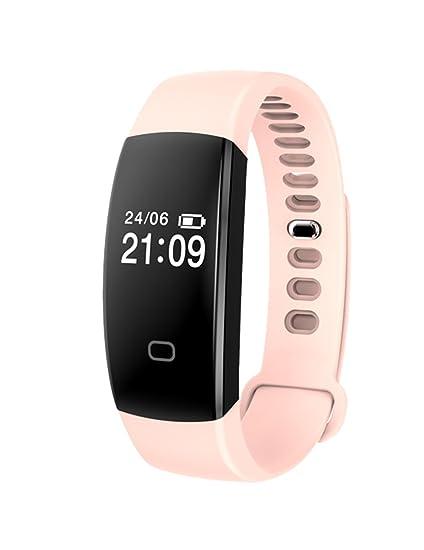Color rosa inteligente reloj teléfono bluetooth reloj teléfono celular apoyo podómetro Sleep vigilancia con cámara: Amazon.es: Relojes