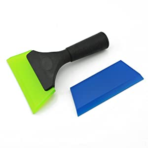 FOSHIO Water Clean Rubber Squeegee with One Spare Rubber Blade for Window Tint Vinyl, Car Sticker, Wall Sticker Installing