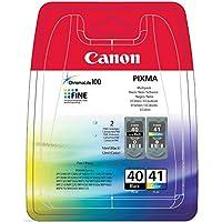 CANON 0615B043 PG-40/CL-41 Orijinal Mürekkep Kartuşu, Çoklu paket (Siyah, Sarı, Macenta, Cyan)