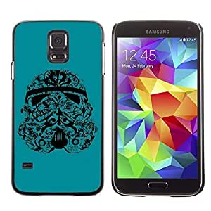 A-type Colorful Printed Hard Protective Back Case Cover Shell Skin for Samsung Galaxy S5 V SM-G900 ( Cool Tattoo Stormtrooper )