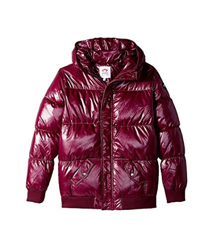 Appaman Kids Baby Girl's Down Filled Knit Detail Puffy Coat (Toddler/Little Kids/Big Kids) Deep Fuchsia Sparkle 12 by Appaman Kids