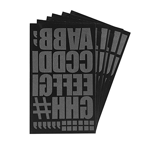 Magfok Iron on 2 Inch Letter Black Transfer, 6 Sheet (Black or White Optional)