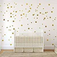 54 pcs Removable Vinyl Sparkling Star Wall Decals DIY...